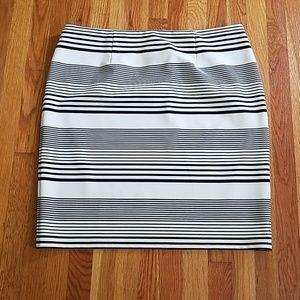 Black and cream striped skirt